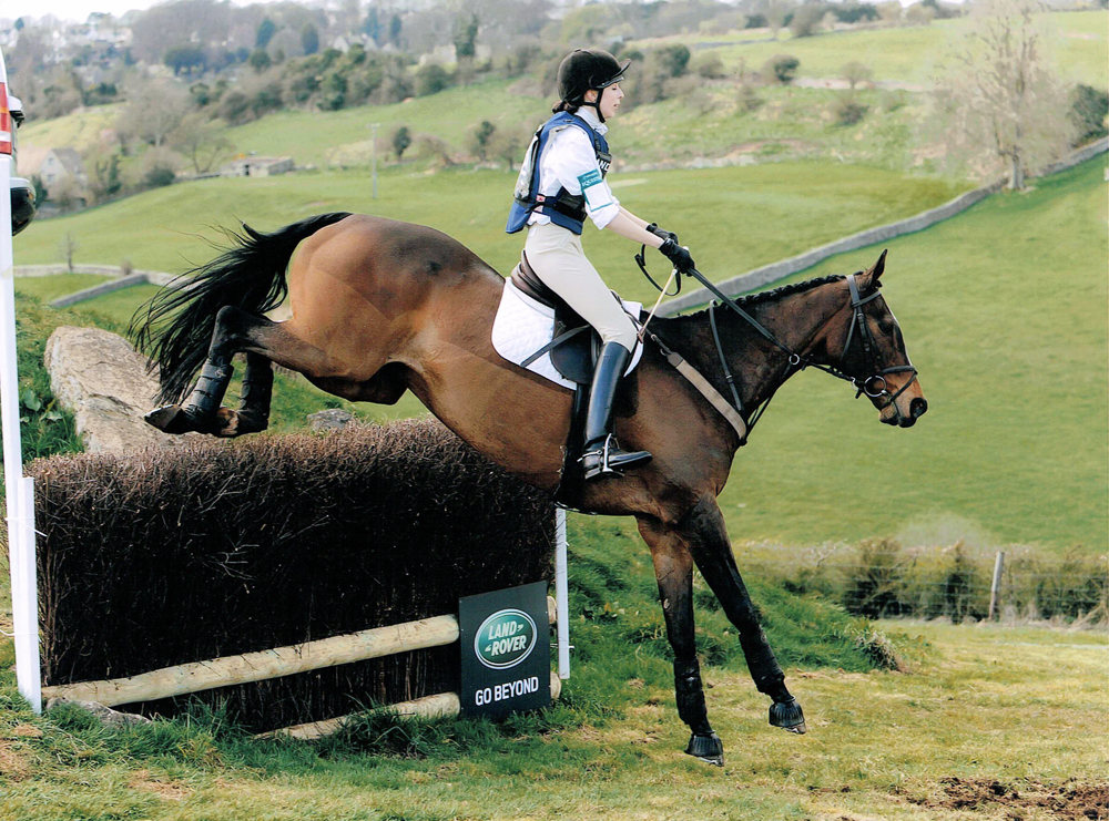 Olivia Sims and Our Man, homebred by her grandmother Betty Skelton, Gatcombe Open Novice March 2009 (double clear)